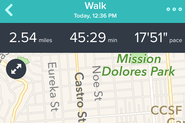 fitbit ios gps map