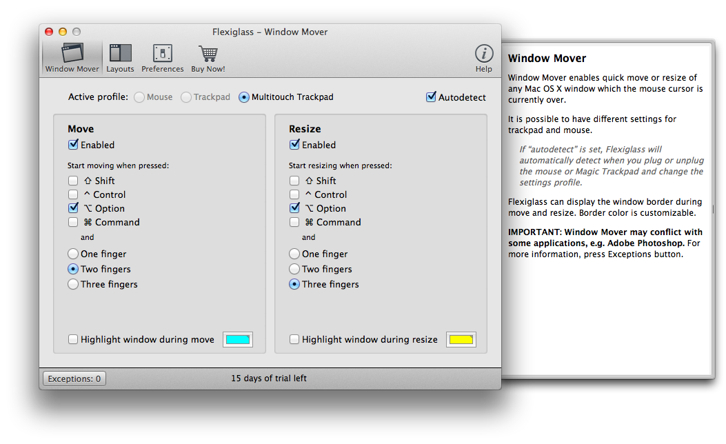 Flexiglass review: Control OS X windows with your keyboard