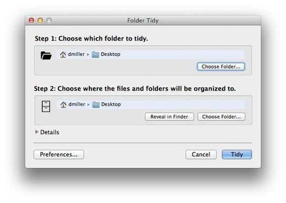 folder tidy rule