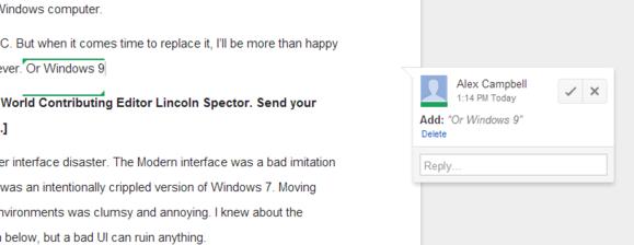 google docs suggestion mode