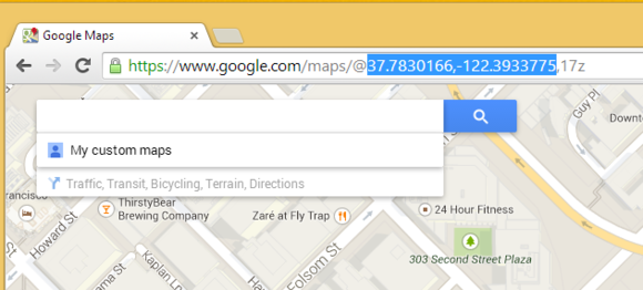 Google Maps latitude and longitude