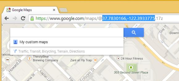 Google Maps latitude and longitude