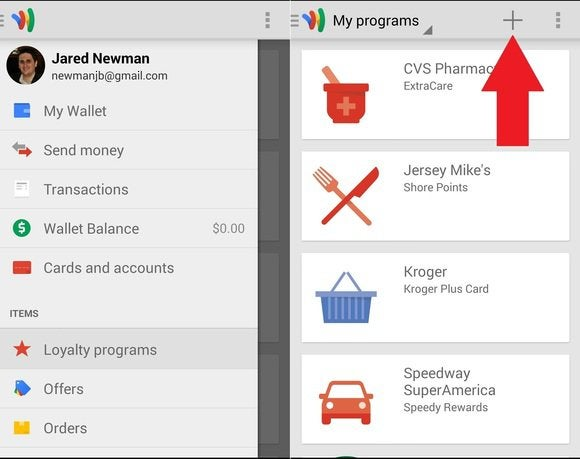 Google Wallet add loyalty card