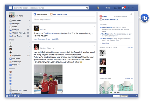 Head for Facebook