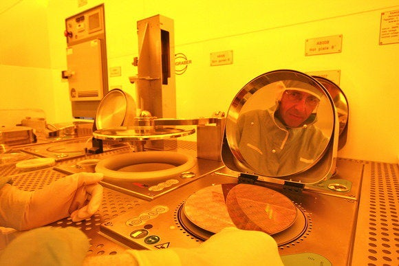 ibm researcher with wafer