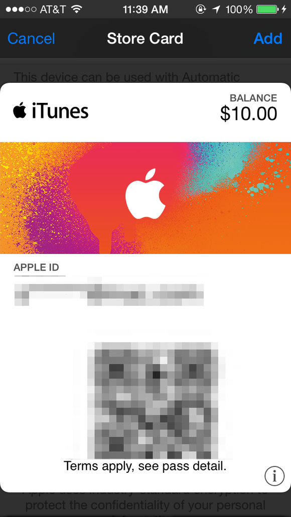 iphone itunes pass passbook