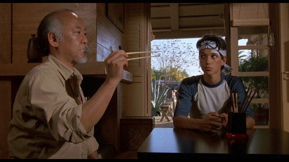 karate kid fly chopsticks