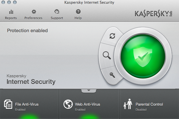 kaspersky mac main screen