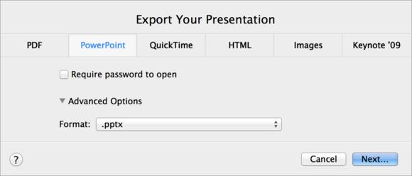 keynote export