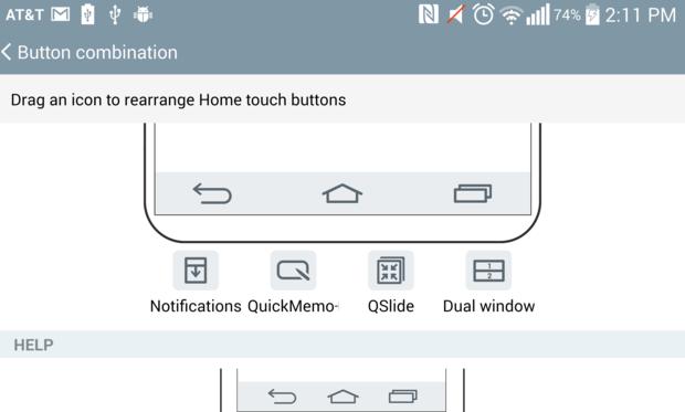 lg g3 navigation bar