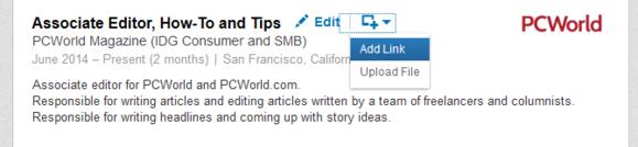 linkedin upload work sample from file