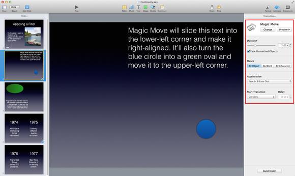Keynote magic move