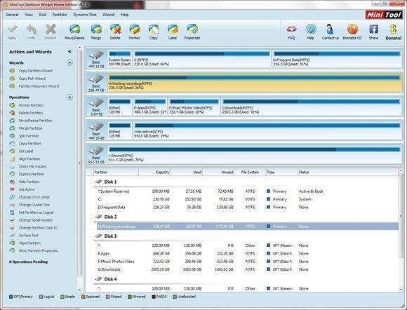 download mini tools partition wizard