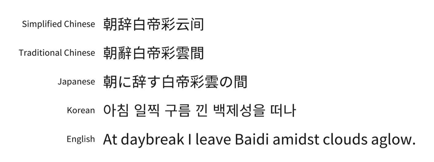 East Asian Font 57