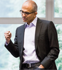 nadella fist pump