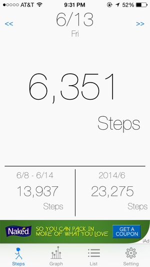 pedometer for m7