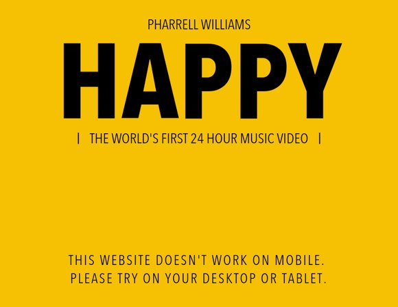 pharrell happy mobile not