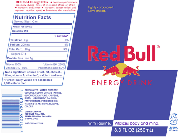 red bull nutrition