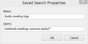 Evernote saved searc