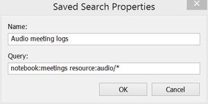 Evernote saved searc