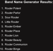 Band Name Maker