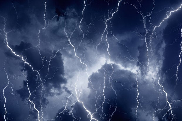 storm lightning cloud computing disaster