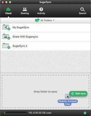 sugarsync interface