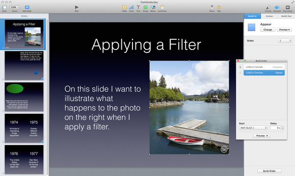 Improve your presentation skills how to make smoother slide keynote single slide builds ccuart Image collections