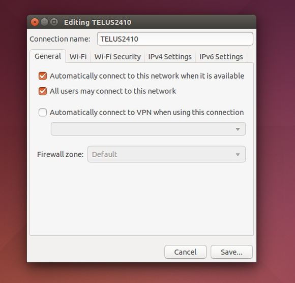 ubuntu networkmanager edit connection