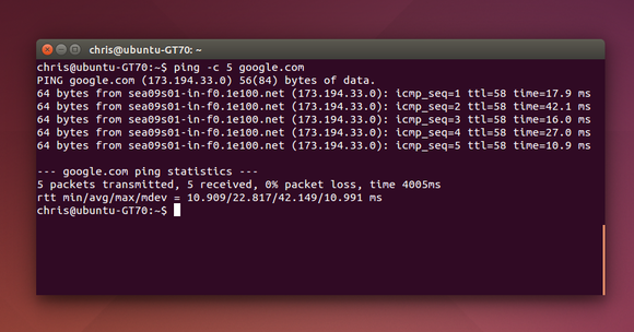 ping linux