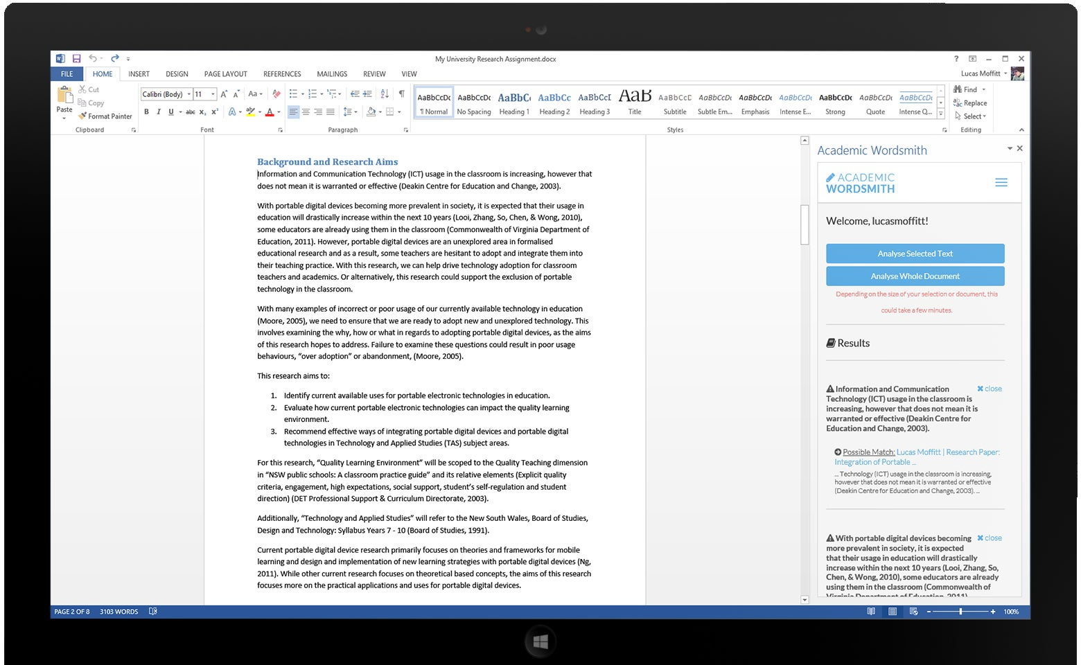 real time plagiarism checker debuts for microsoft word
