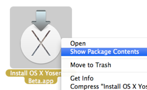 yosemite beta show package contents
