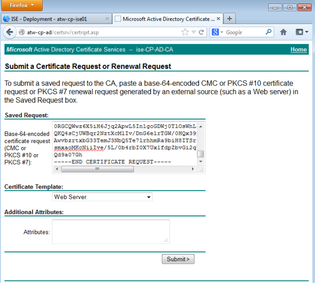 How to hack the certificate for a cisco identity services engine paste in csr yelopaper Images