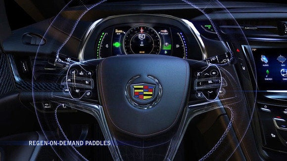 2014 cadillac elr regenerative paddle shifters 1
