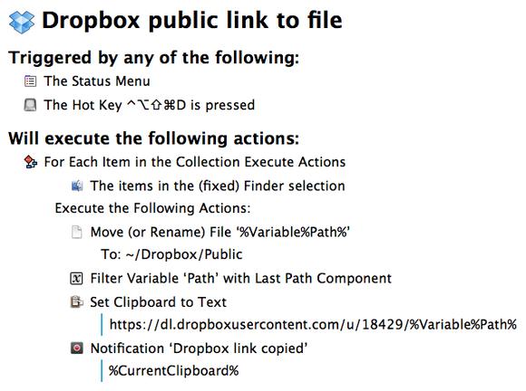Keyboard Maestro dropbox file summary