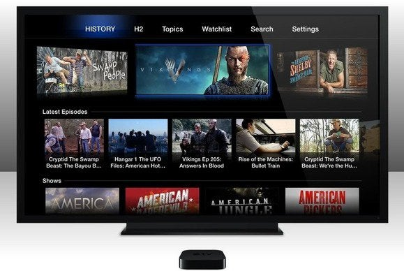 apple tv channel history