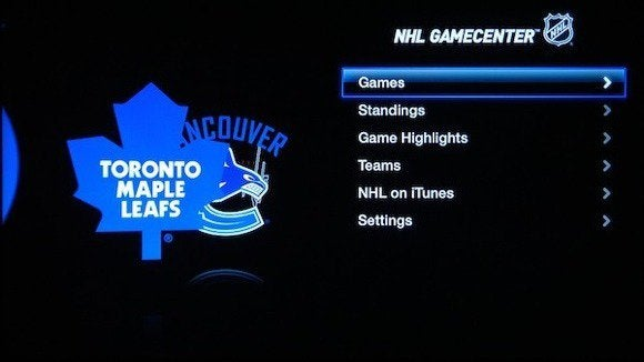 apple tv channel nhl