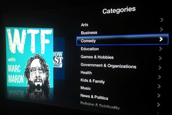 apple tv channel podcasts