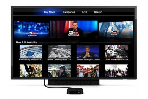 apple tv channel sky news