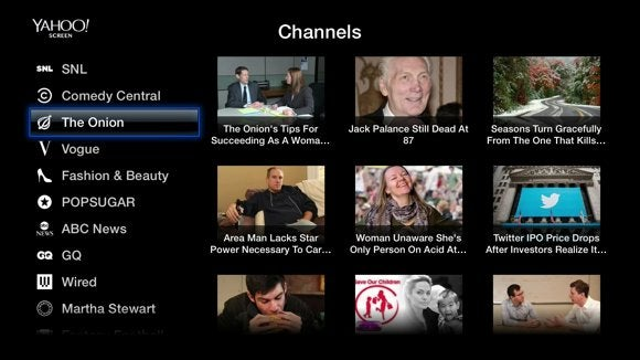 apple tv channel yahoo screen