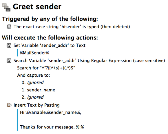 automate email gemmell mail greet sender summary