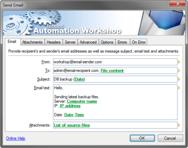 Febooti Automation Workshop Send Email Action