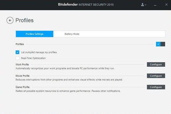 bitdefender profiles