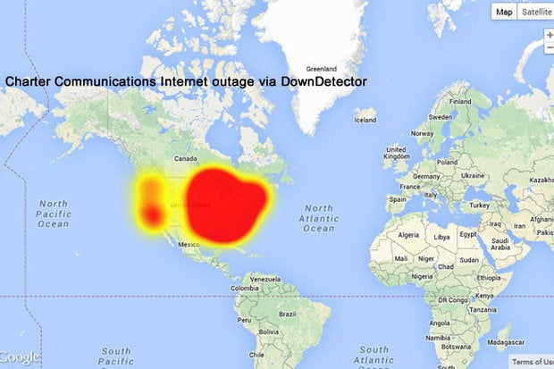 Charter Communications internet outage