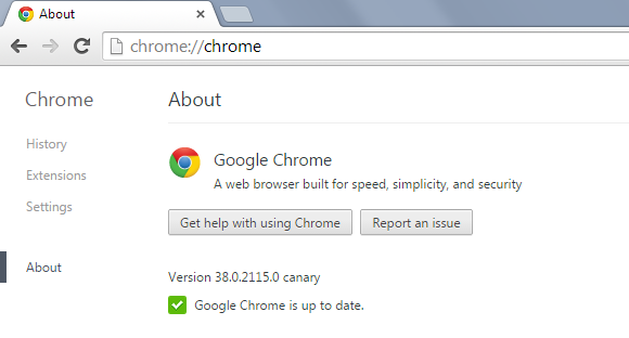 chrome and canary side by side