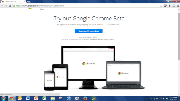 chrome beta download page