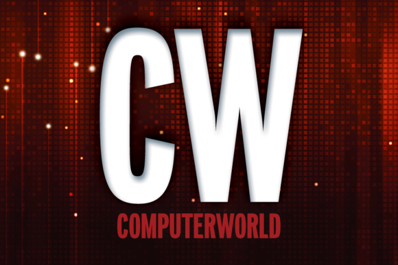Computerworld logo, teaser in red