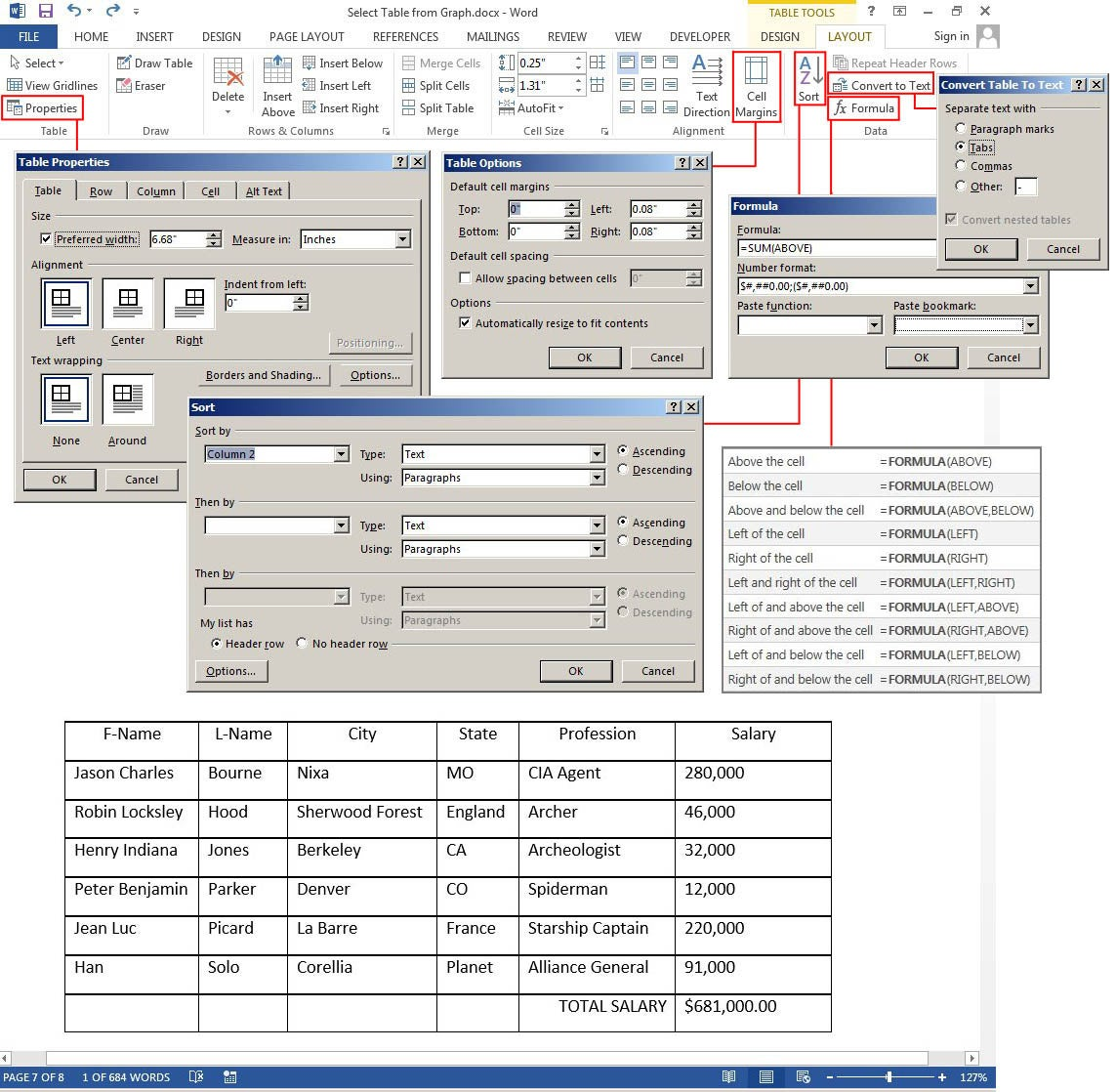 InfoTech: How to create and customize tables in Microsoft Word