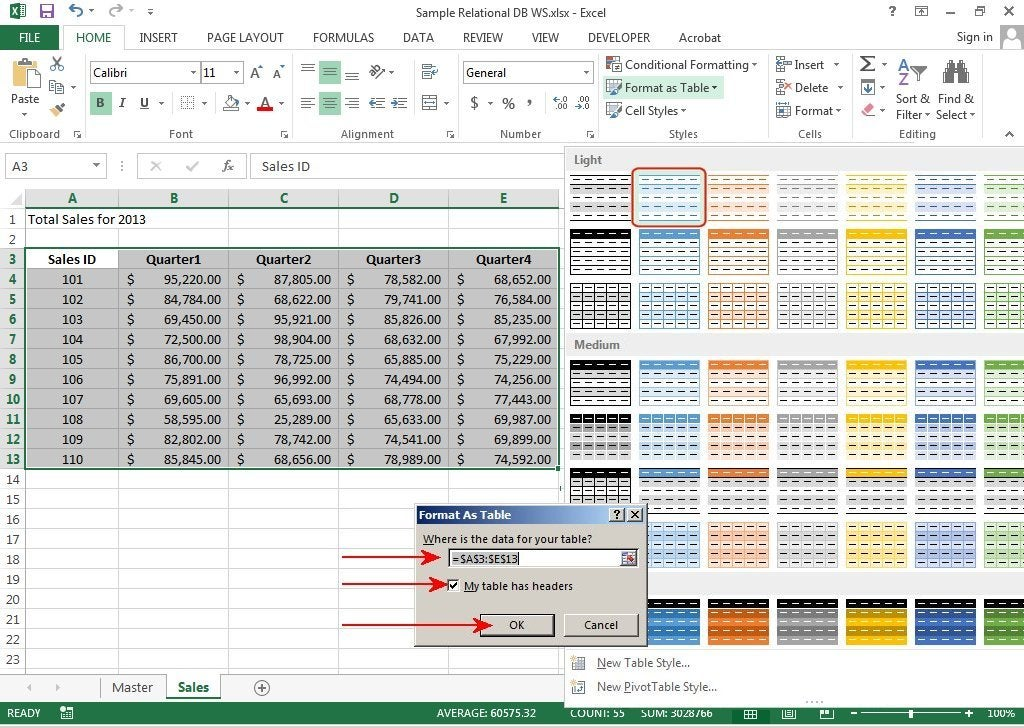 How to create relational databases in excel 2013 pcworld for Excel table design
