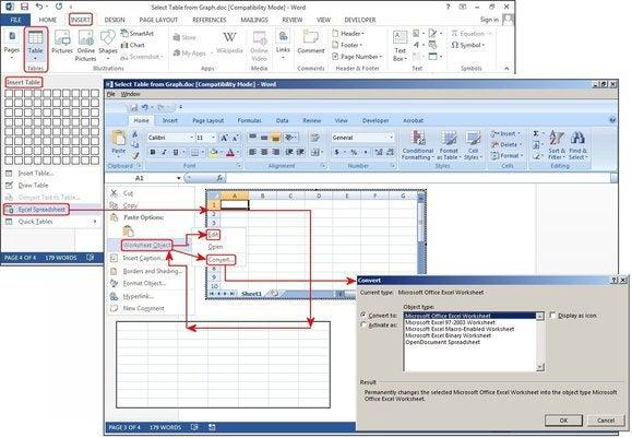 f4 insert table excel spreadsheet
